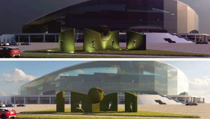 Устадиона «Казань-Арена» перед кубком конфедераций появится 4-метровый «букет»