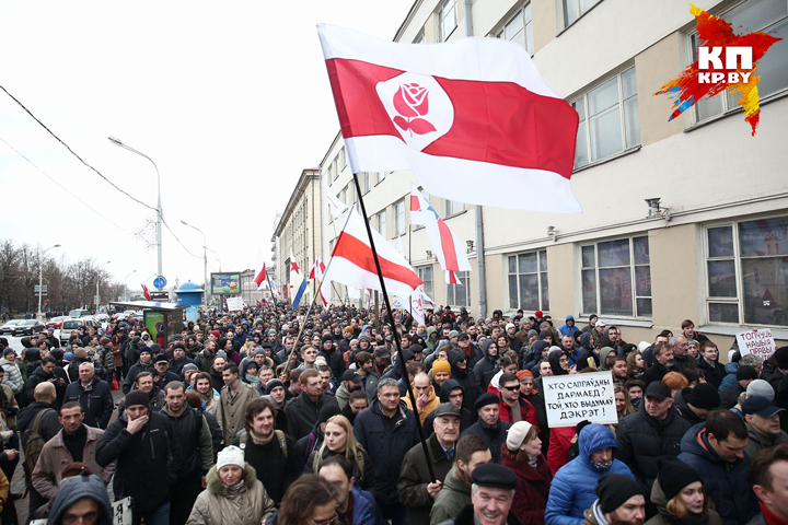 День Конституции в Белоруссии: размещены фото ивидео массовых акций протеста