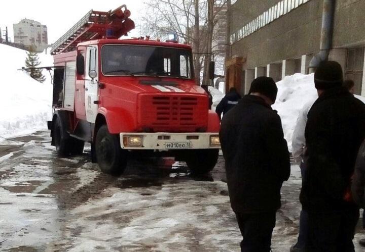 Натерритории Ижевского автозавода случилось возгорание