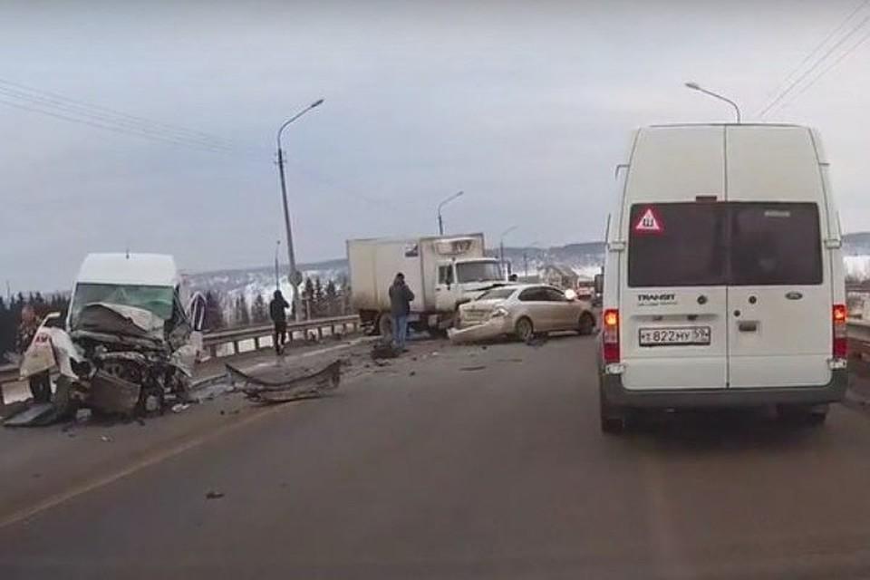 Вмассовом ДТП наЧусовском мосту погибли два человека