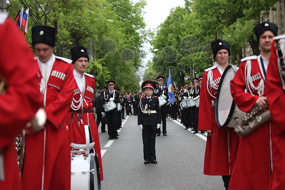 Центр Краснодара перекроют навремя парада Кубанского казачьего войска