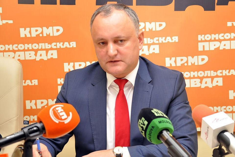 Президент Молдовы Игорь Додон отправился в российскую столицу