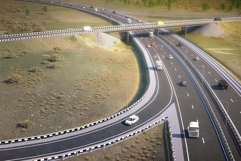 Строители дороги  «Таврида» запустили 1-ый  мобильный асфальтобетонный завод около  Керчи