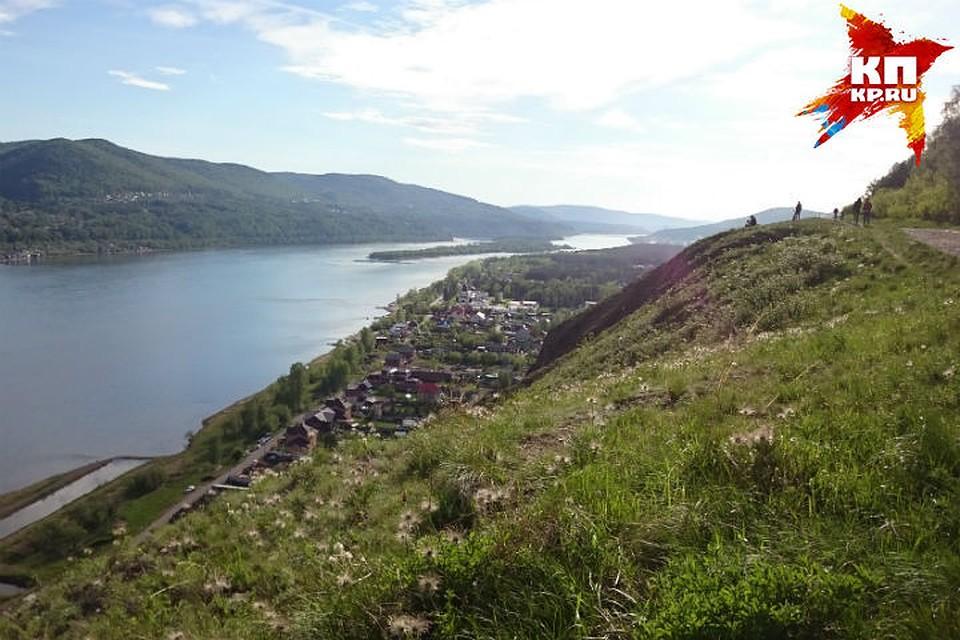 Мужчина упал со100-метрового склона вКрасноярске