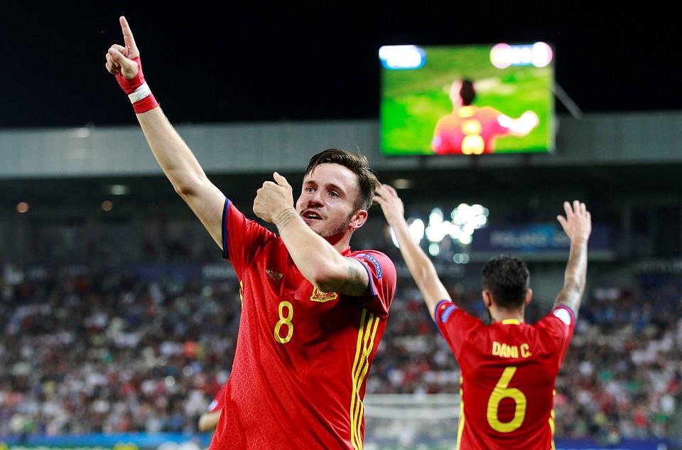Испания обыграла Италию вполуфинале молодежного Евро, Сауль сделал хет-трик