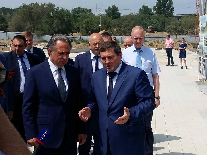 ВВолгоград прилетел вице-премьер Виталий Мутко