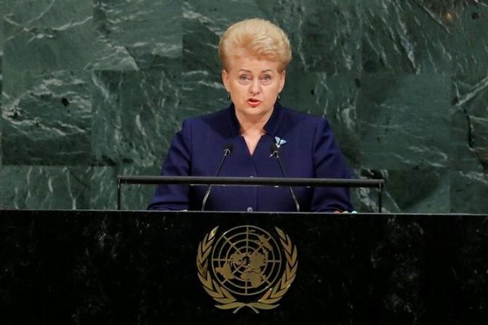 Русская делегация покинула залГА ООН перед выступлением Грибаускайте