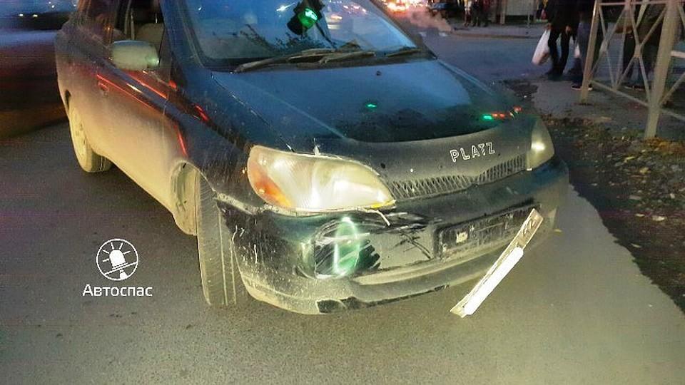 ВНовосибирске шофёр иномарки заснул зарулем ипопал вДТП