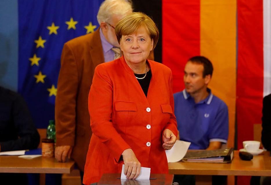 ВГермании огласили первые результаты выборов вбундестаг