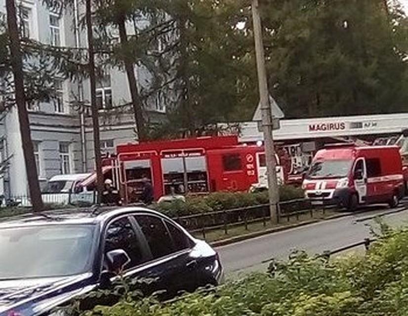 Сверепый пожар вшколе МВД вПушкине: эвакуировали неменее 1 000 человек