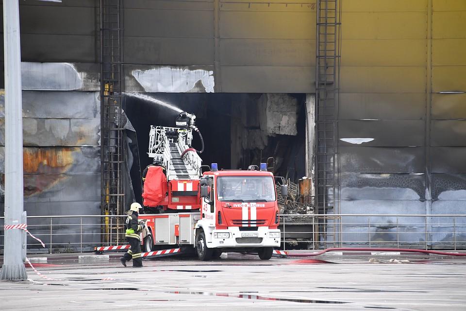 Пожар вТЦ «Синдика» навсе 100% устранили