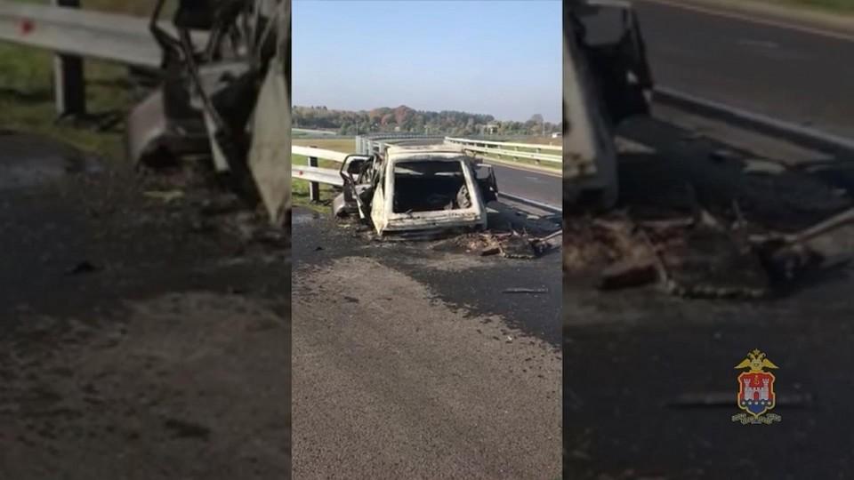НаПриморском кольце взагоревшемся «Опеле» умер  шофёр