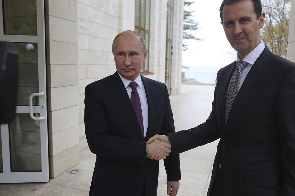 Песков: Переговоры Асада сПутиным вСочи тянулись 4 часа