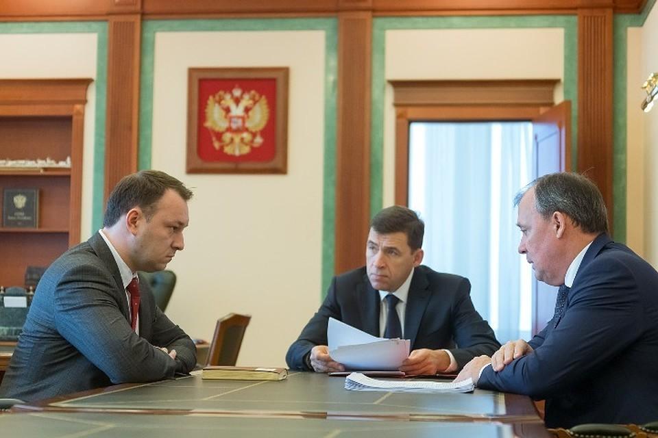 Свердловский губернатор Евгений Куйвашев встретился слидерами конкурса напосты министров