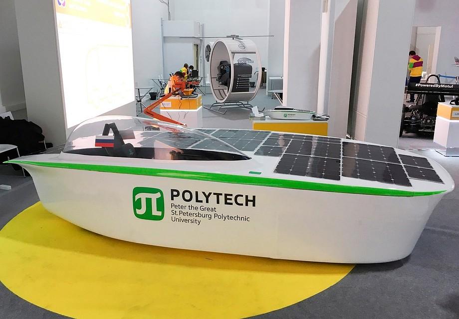 Студенты изПетербурга создали автомобиль, работающий наэнергии Солнца
