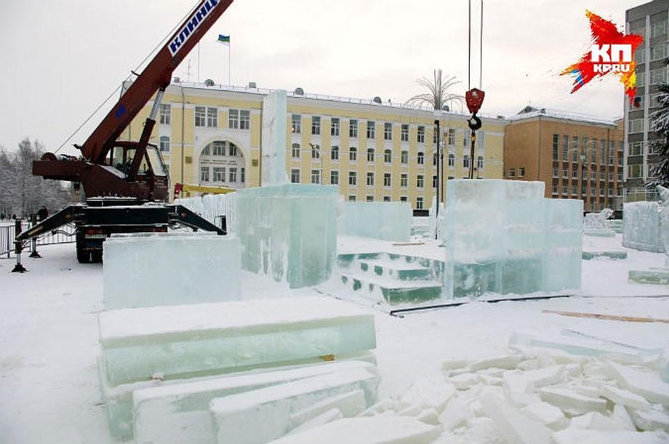 Из-за теплой зимы Стефановская площадь вСыктывкаре может остаться без ледового городка