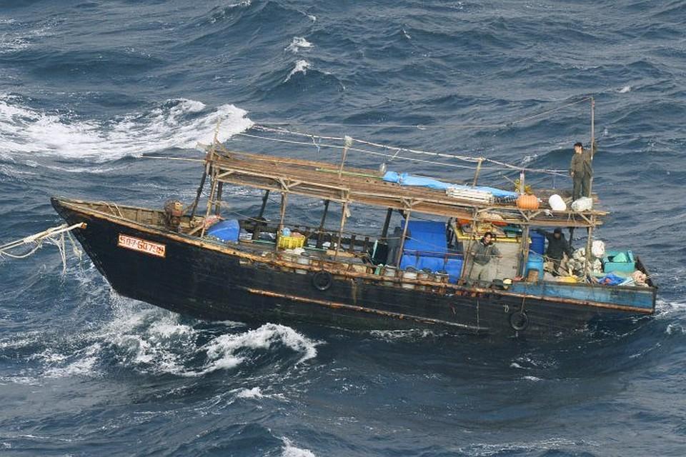 Уберегов Японии найдена  лодка состанками изКНДР