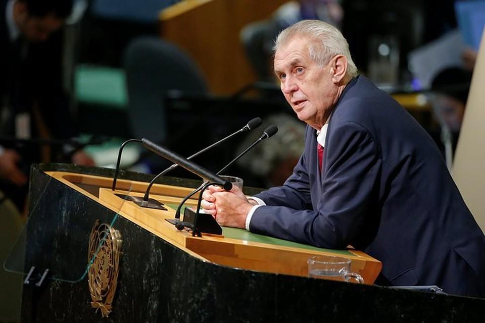 Президент Чехии объявил, что EC трусливо поддерживает палестинских террористов