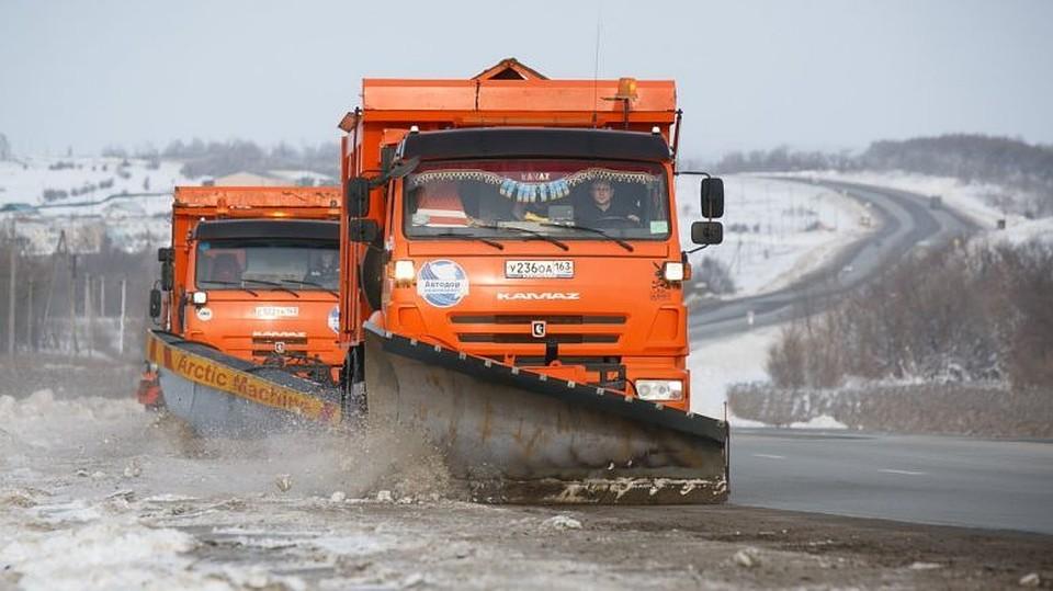 Дорожные службы вСамарской области перевели наусиленный режим работы