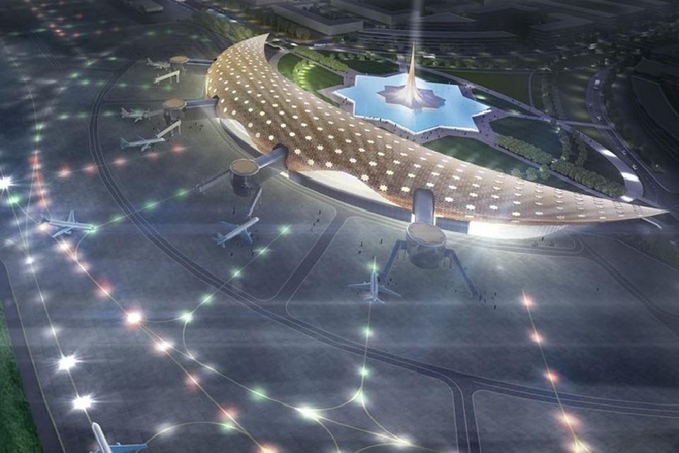 ВГрозном построят международный аэропорт вформе полумесяца