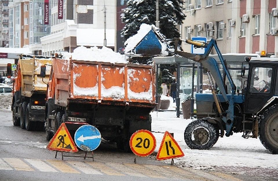 Дороги Липецка чистят отснега вкруглосуточном режиме