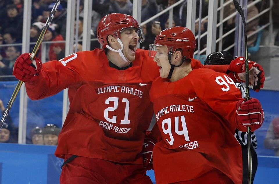 Российские хоккеисты разгромили сборную США наОлимпиаде вПхенчхане