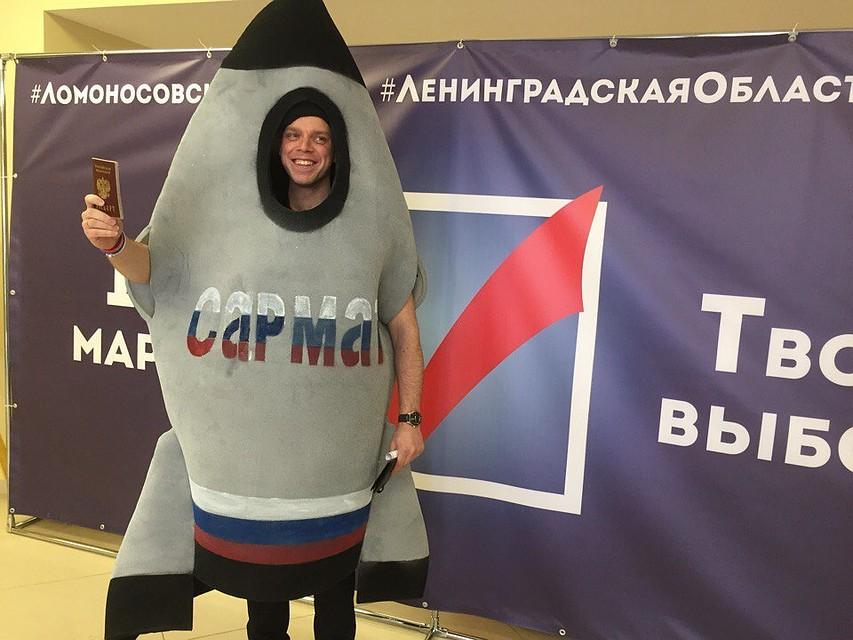 ВЛенобласти навыборы пришёл человек-ракета «Сармат»