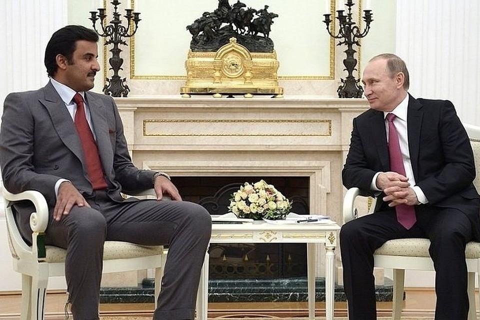 ВКремле поведали опредстоящих переговорах Владимира Путина сэмиром Катара