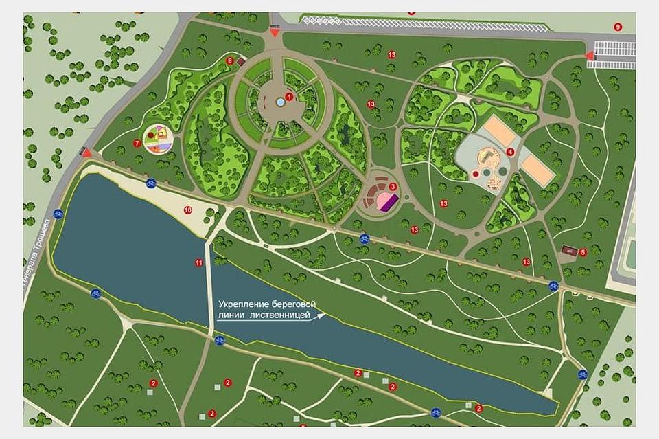Парк культуры иотдыха начали строить вСоловьиной роще вСмоленске