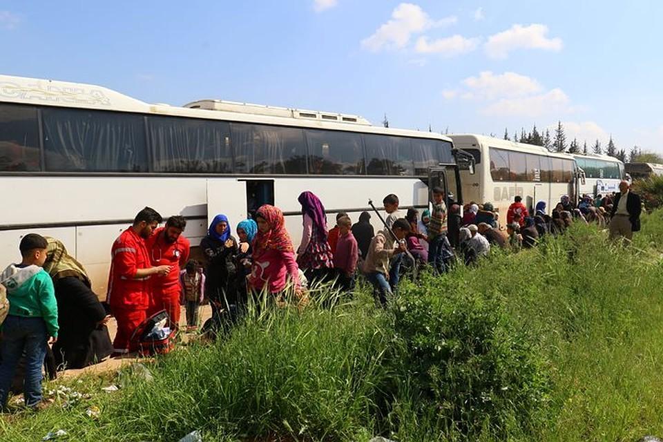 Практически 3,5 тыс. боевиков вышли изсирийской Думы погумкоридору