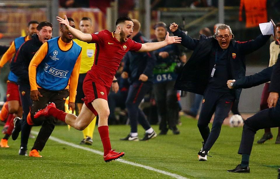 «Рома» разгромила «Барселону» ивышла вполуфинал футбольной Лиги чемпионов
