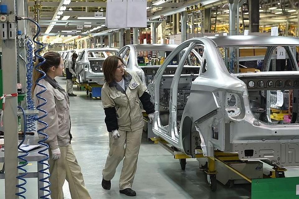 Ижевский автомобильный завод  остановил  производство Лада  Vesta