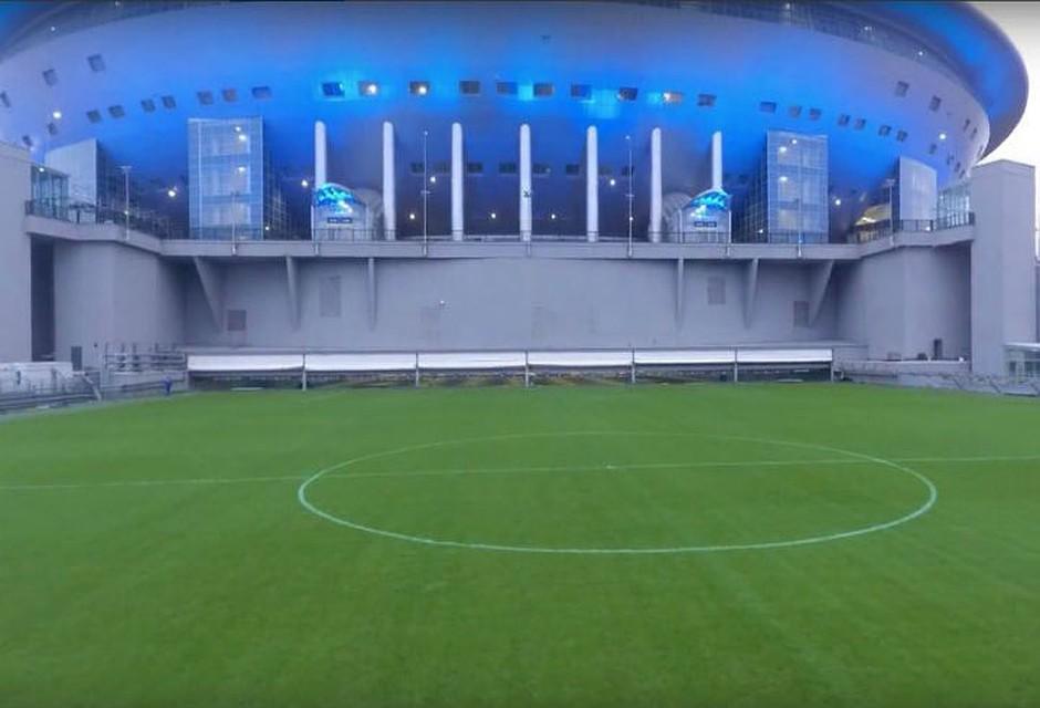 Проверка системы выкатывания поля состоялась настадионе ЧМ-2018 «Санкт-Петербург»