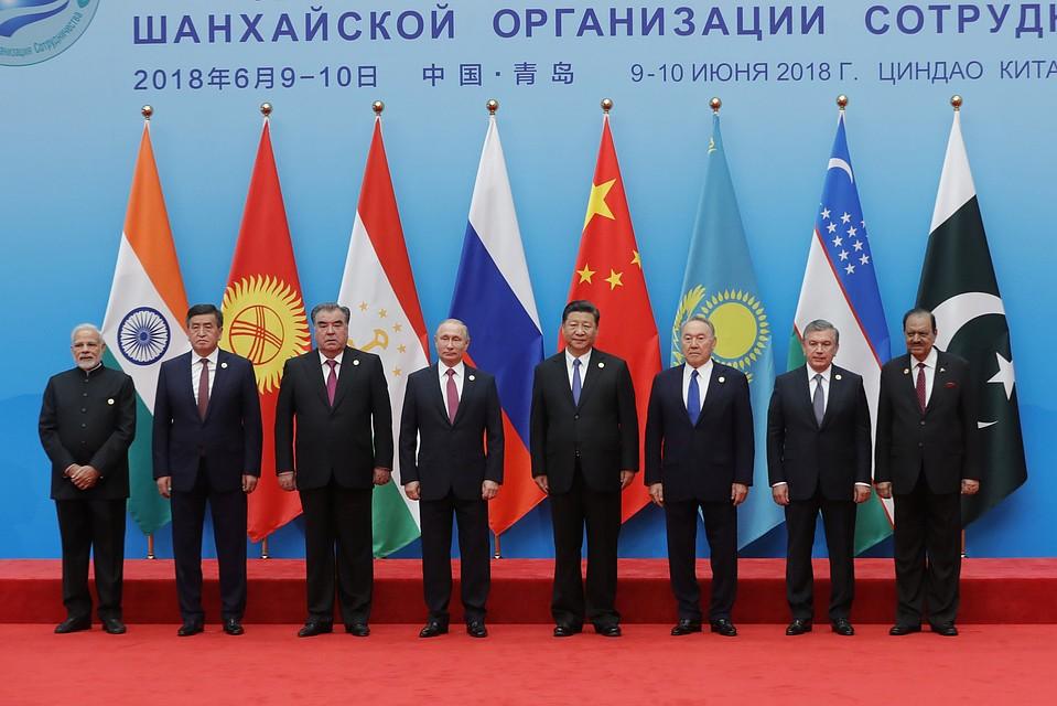 Лидеры стран-членов ШОС в расширенном составе