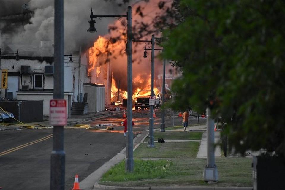 При взрыве газа вСША пострадали несколько человек