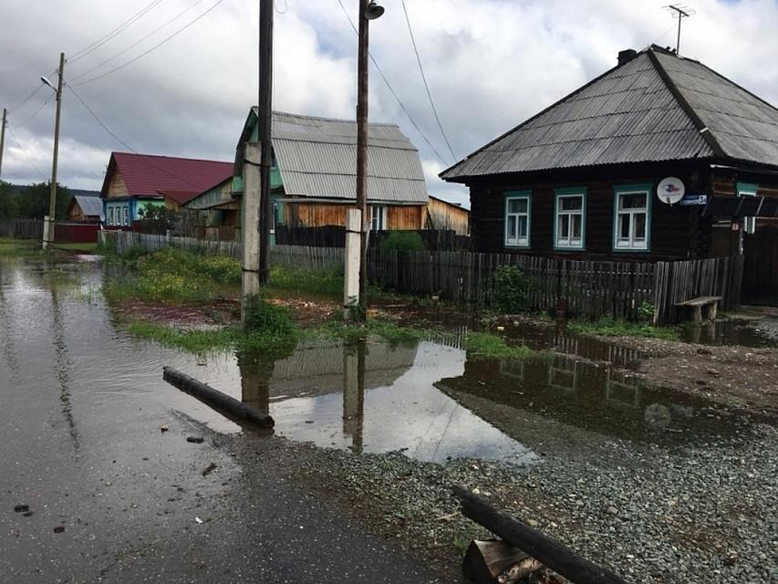 Река Ивдель вСвердловской области затопила целый посёлок
