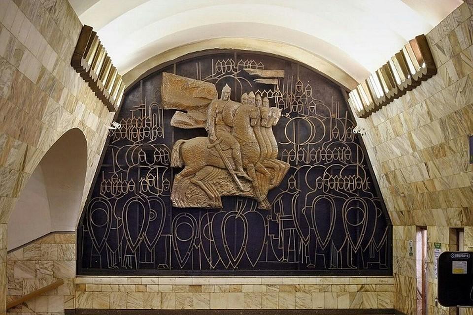 Метрополитен разъяснил ошибку нахудожественном панно станции «Площадь Александра Невского»