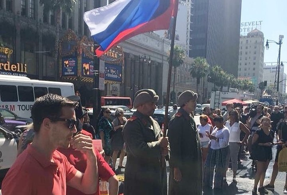 Звезду Трампа охраняли «русские солдаты»