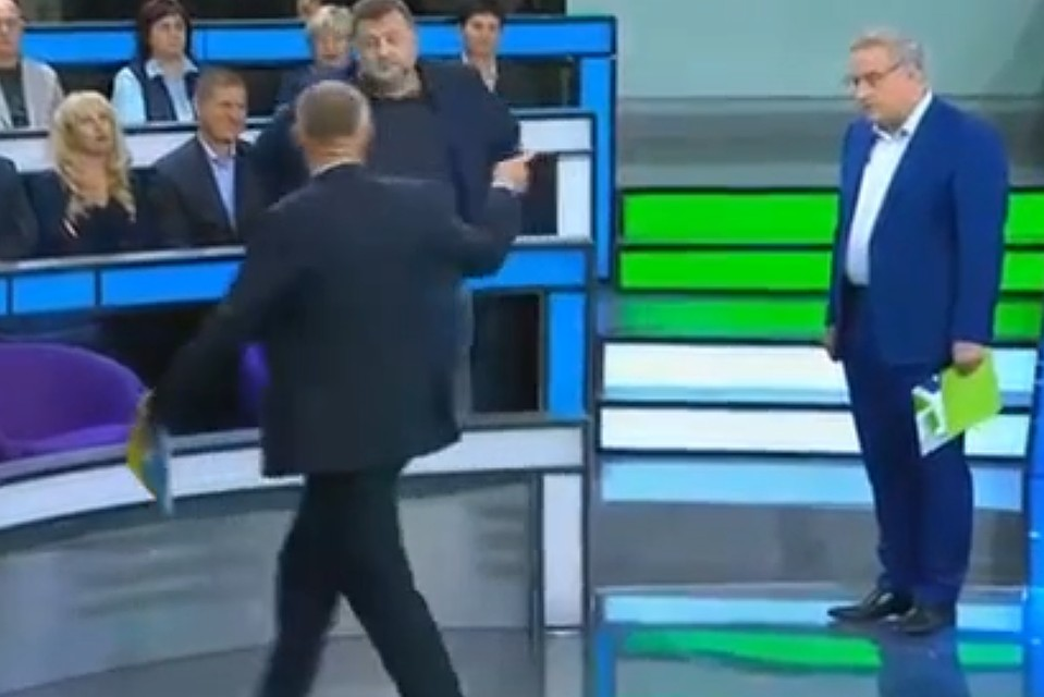 Украинского профессионала выгнали изстудии русского ток-шоу впрямом эфире