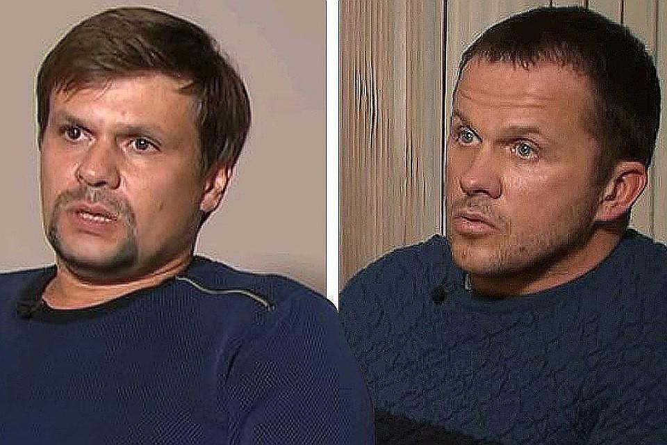 Петров и Боширов во время интервью телеканалу Russia Today