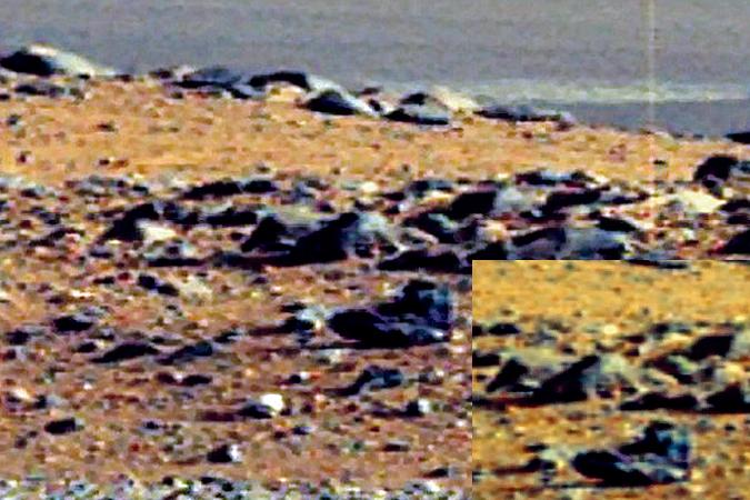 Пооценкам экспертов, ботинок марсианина (на снимке вверху) былпримерно 43-го земного размера.