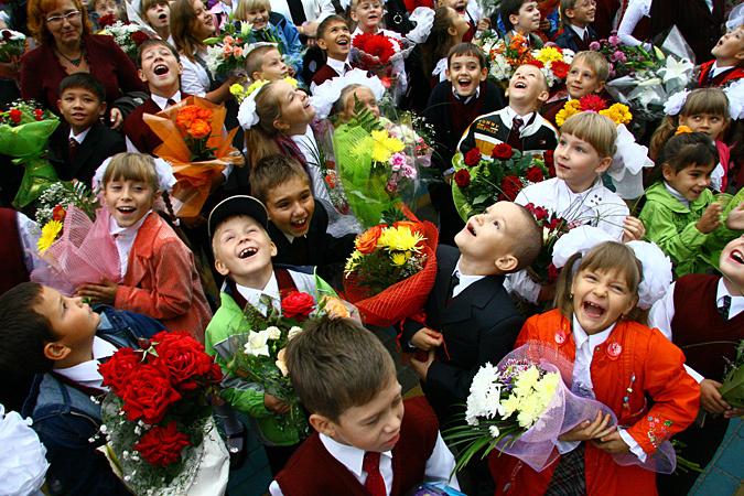 Квіти і посмішки - кращий подарунок вчителю насвято