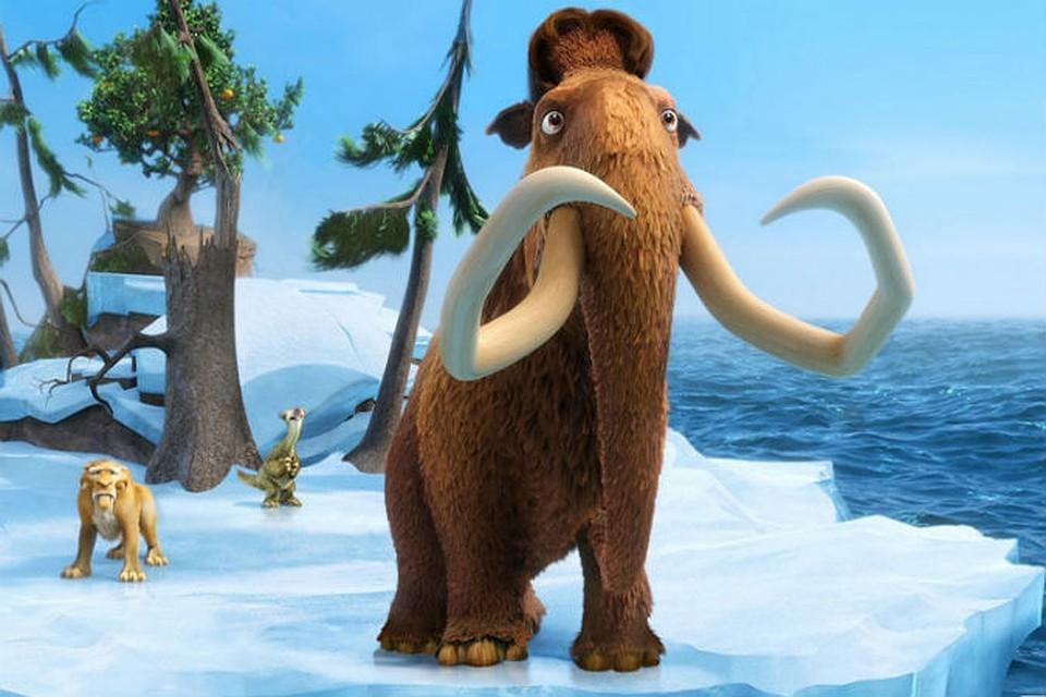 """кадр из мультфильма """"Ледниковый период"""""""