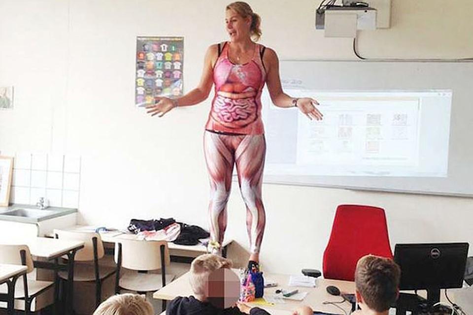 тетка совратила собственного ученика прямо в классе