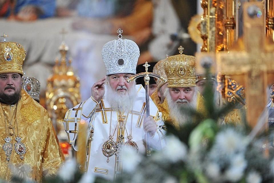 Патриарх Кирилл провел Рождественское богослужение в Храме Христа Спасителя
