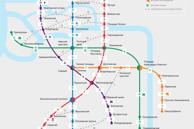 схема метро санкт-петербурга через лет