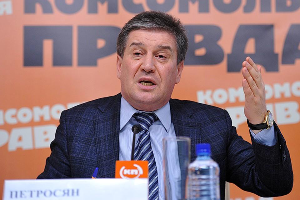 Глава департамента социальной защиты и труда Москвы Владимир Петросян