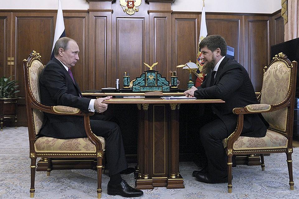 """Путин продлил """"срок годности"""" Кадырова"""