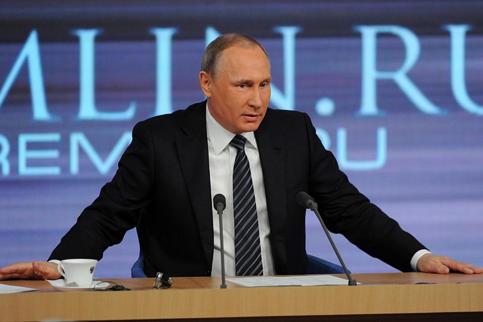 Жители России оценили работу В. Путина напосту президента