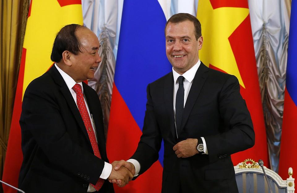 Медведев рассчитывает нарасширение сотрудничества сВьетнамом